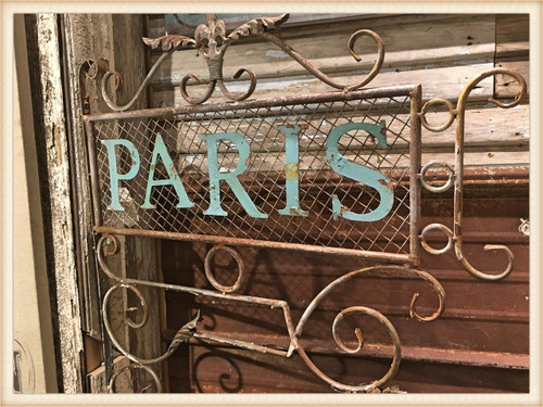 Paris Mesh Distressed Sign
