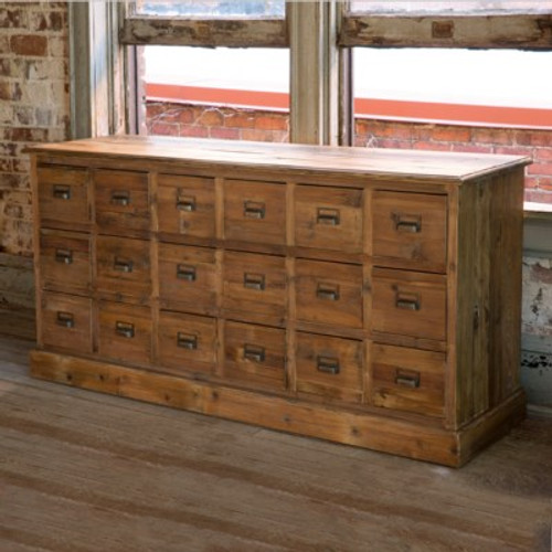 Old Pine Seed Cabinet
