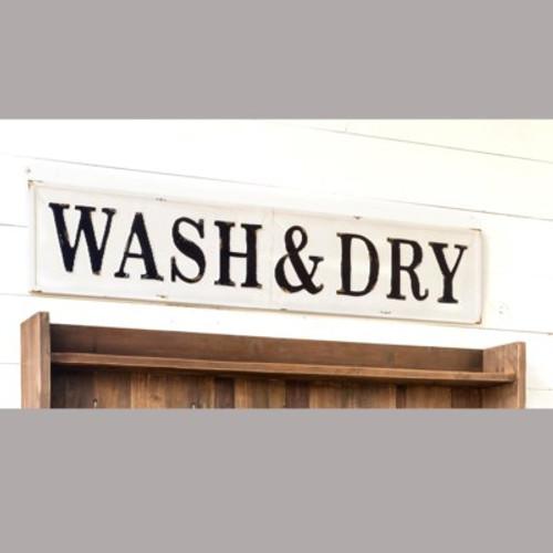 Wash & Dry Embossed Metal Sign
