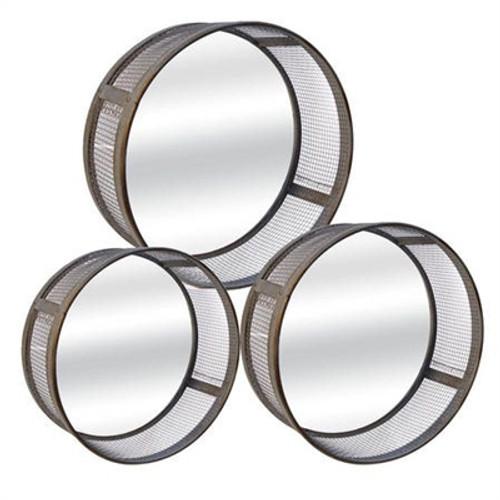 Metal Round Mirrors Set of 3
