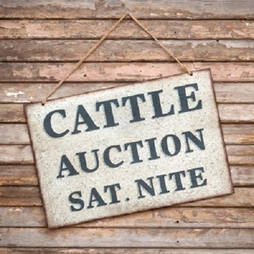 Cattle Auction Sign
