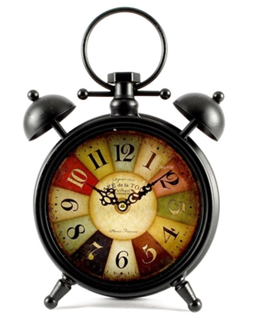 """Multi Colored Round Table Clock 10"""""""