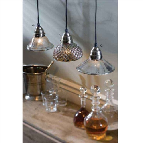 Antiqued Mercury Glass Pendant Light 3 Styles