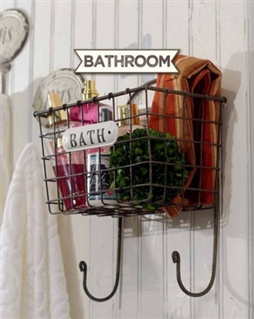 Hanging Metal Bathroom Basket