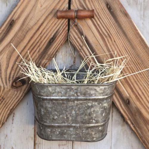 Galvanized Hanging Bucket Planter