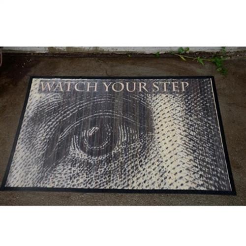 "Eye ""Watch Your Step"" Bamboo Mat 2x3"