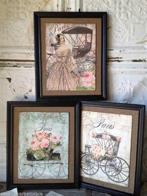 Parisian Carriage Prints Set 3