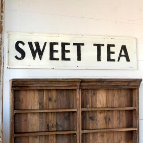 Embossed Metal Sweet Tea Sign