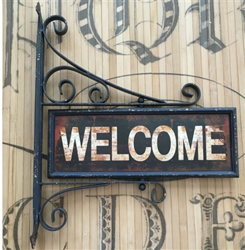 Welcome Swivel Sign