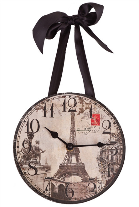 Eiffel Tower French Hanging Clock