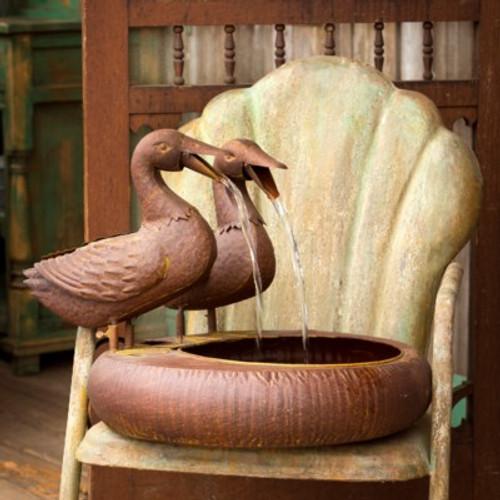 Folk Art Ducks Fountain