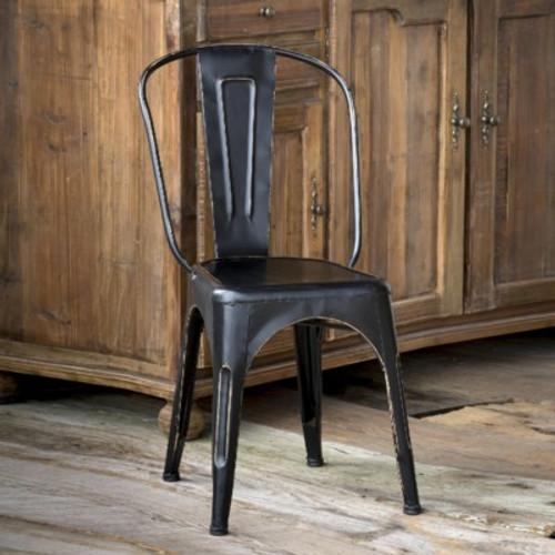 Antique Black Metal Bistro Chair