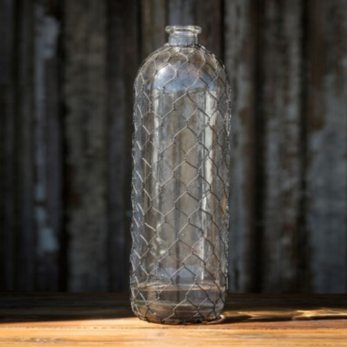 Bottle #16 With Poultry Wire