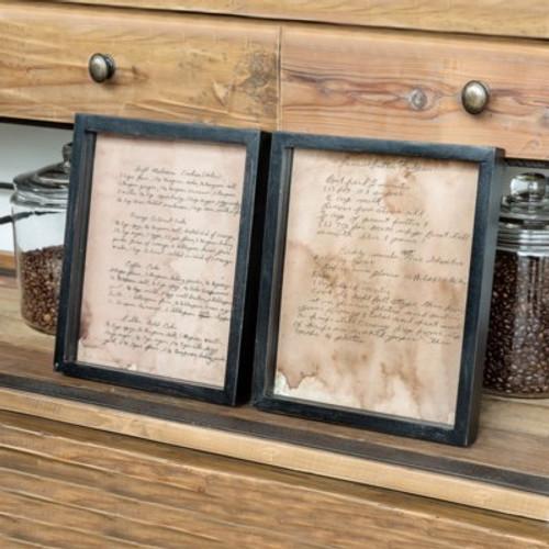 Old Family Recipe Prints