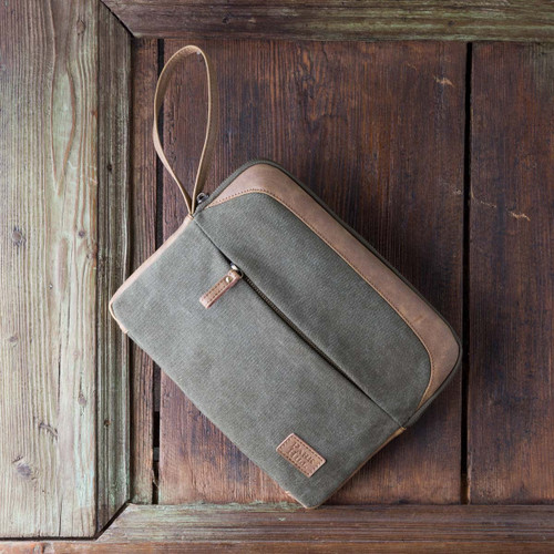 Canvas Tablet Tote