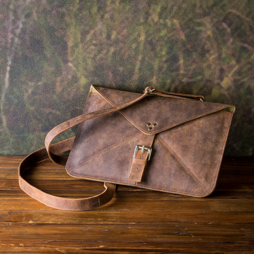 Buffalo Finish Leather Tablet Tote