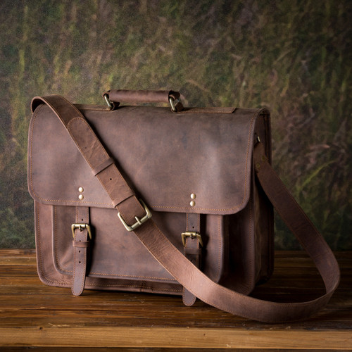 Buffalo Finish Leather Counselor's Briefcase