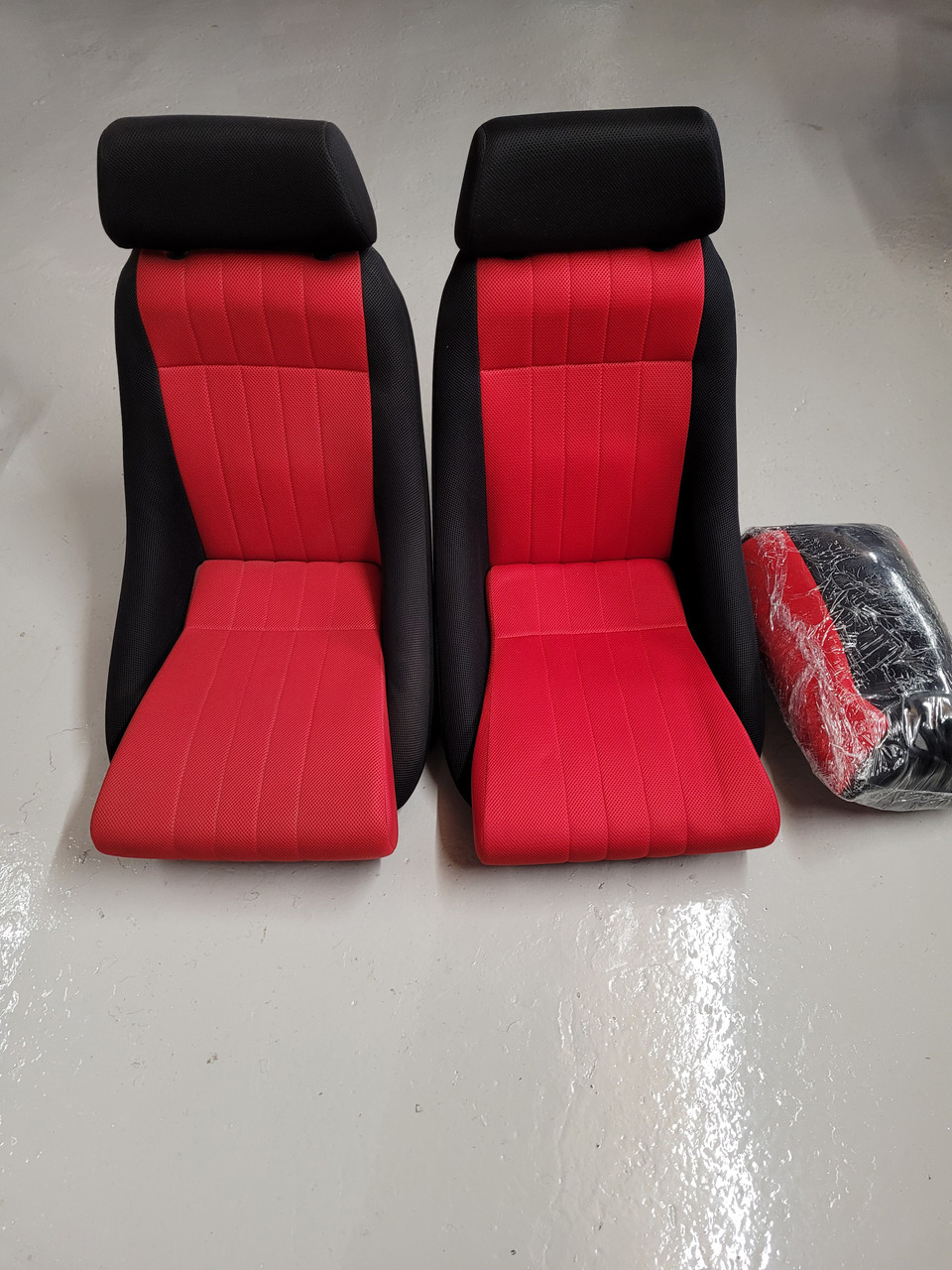 Cobra Classic Black & Red Perforated Fabric Seats including Rear Seat Cover T13