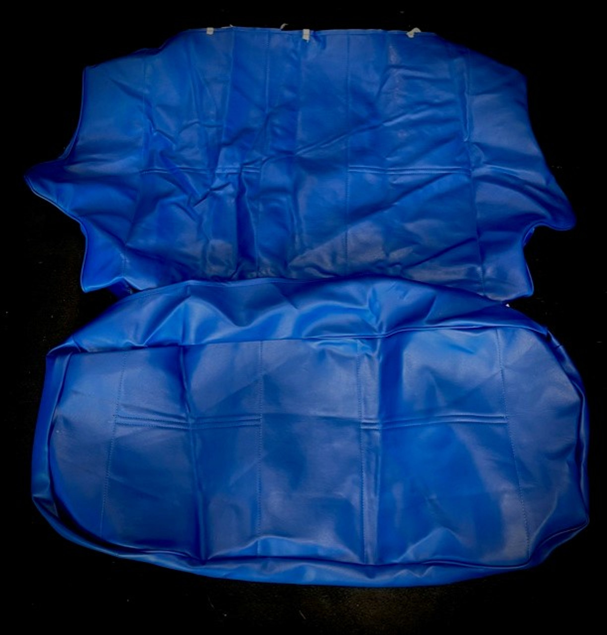 Blue rear seat covers for classic mini (CODE 8)