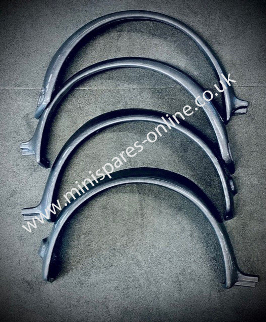 Carbon Fibre Sportspack Fibreglass Replica wheel arches for Classic Mini