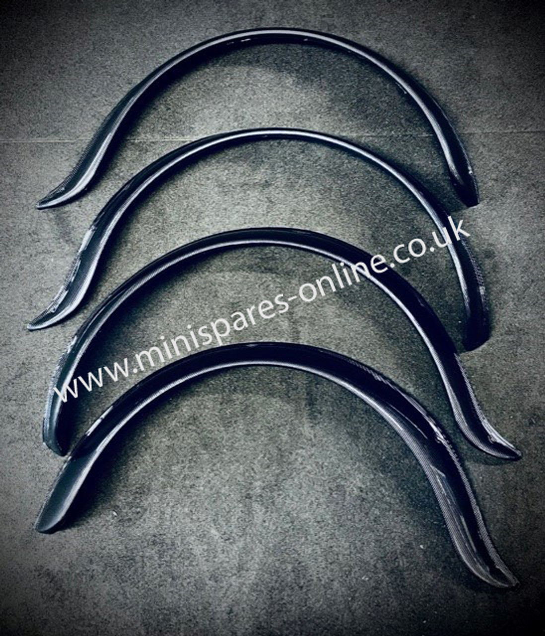 ONE SET ONLY! Carbon Fibre Group 7 Wheel Arches for Classic Mini