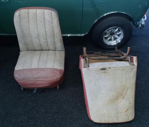 MK1 1959 original seats, used pair for classic Mini