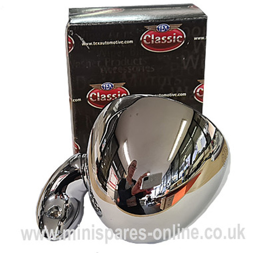 Genuine Tex Stainless Steel Evolution Bullet Mirror Right Hand Side for Classic Mini
