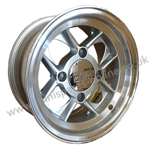 5x10 Silver Mamba alloy wheel package for classic Mini