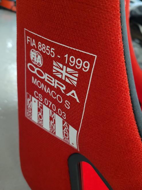 Red Cobra Monaco S Fabric Seat F16