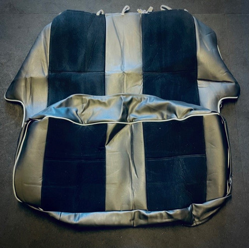 Black  with cloth centre rear seat covers for classic mini (CODE 5)