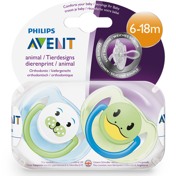 Classic Animal Soother 6-18m+ 2pk