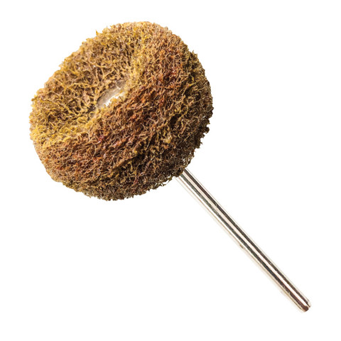 Brown Coarse Fuzzy Wheels 120 Grit Aluminum Oxide Pack of 10