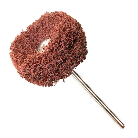 Red Medium Fuzzy Wheels 320 Grit Aluminum Oxide Pack of 10