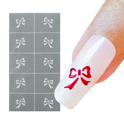 Bow Nail Art Stencil