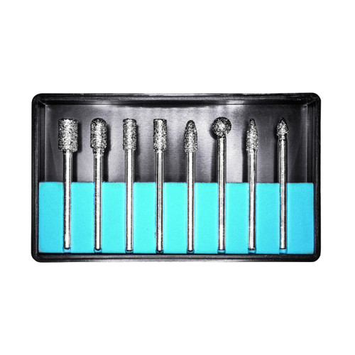 "8 Piece Assorted Diamond Bit Set 1/8"" Coarse"