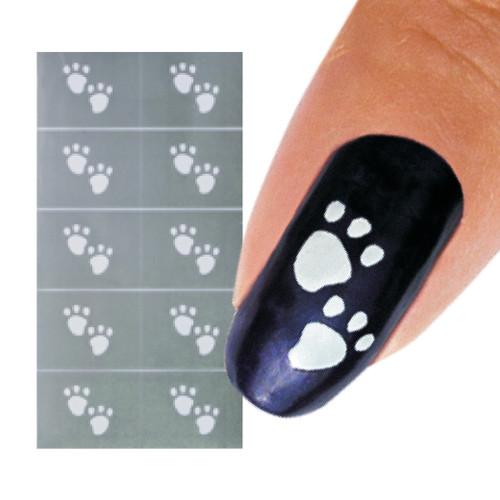 Paws Nail Art Stencil