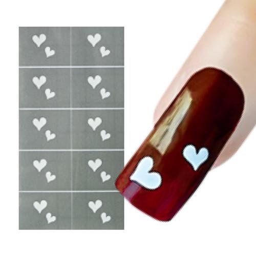 Hearts Nail Art Stencil