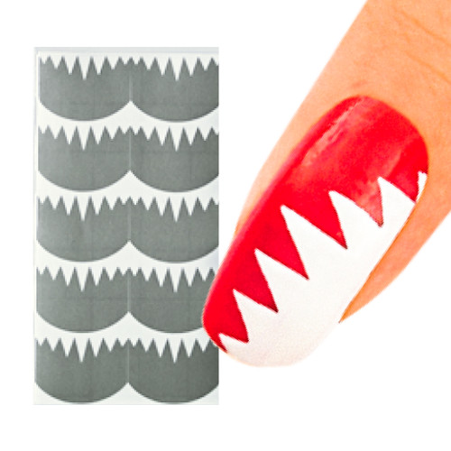 Big Teeth Nail Art Stencil