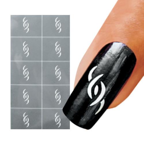 The Swimmer Nail Art Stencil