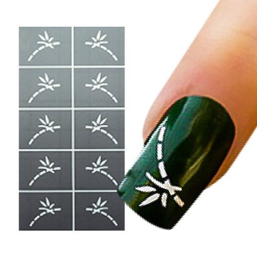 Bamboo Nail Art Stencil