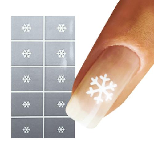 Snow Flake Nail Art Stencil