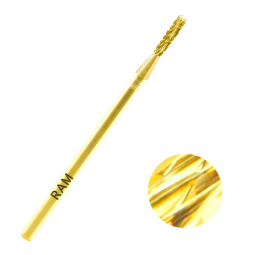 Gold Carbide Cuticle Bits 3/32""