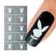 Bunny Nail Art Stencil