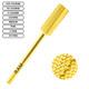 """Gold Carbide Small Barrel 3/32"""" Bits"""