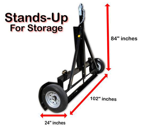 Stand-Up EZ Haul Idler Car Tow Dolly