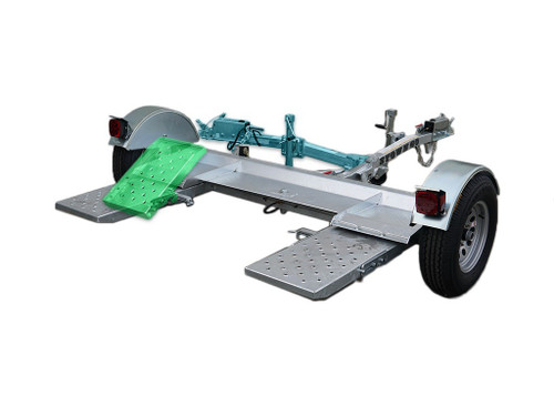 Galvanized Stow and Go Folding Car Tow Dolly with Surge Brakes