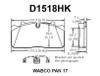 D1518HK - Vortex Air Disc Brake Pads