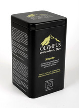 Serenity  OLYMPUS Mountain Tea. Organic Tea Herb Mix of:  Sideritis Scardica (Greek Mountain Tea) - Chamomile- Lemon Verbena. Metal Tin Box 50 g / 1.76 oz