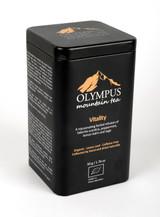 Vitality OLYMPUS Mountain Tea. Organic Tea Herb Mix of: Greek Mountain Tea (Sideritis Scardica) - Peppermint-Lemon Balm - Sage. Metal Tin Box 50 g / 1.76 oz