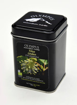 Linden Herbal Tea. Collected by and dried naturally. Metal Tin Box 20g / 0.70 oz. Product of Greece